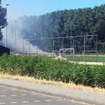 Brandje achteraan D-veld